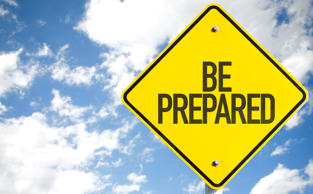 """road sign that says """"BE PREPARED"""""""