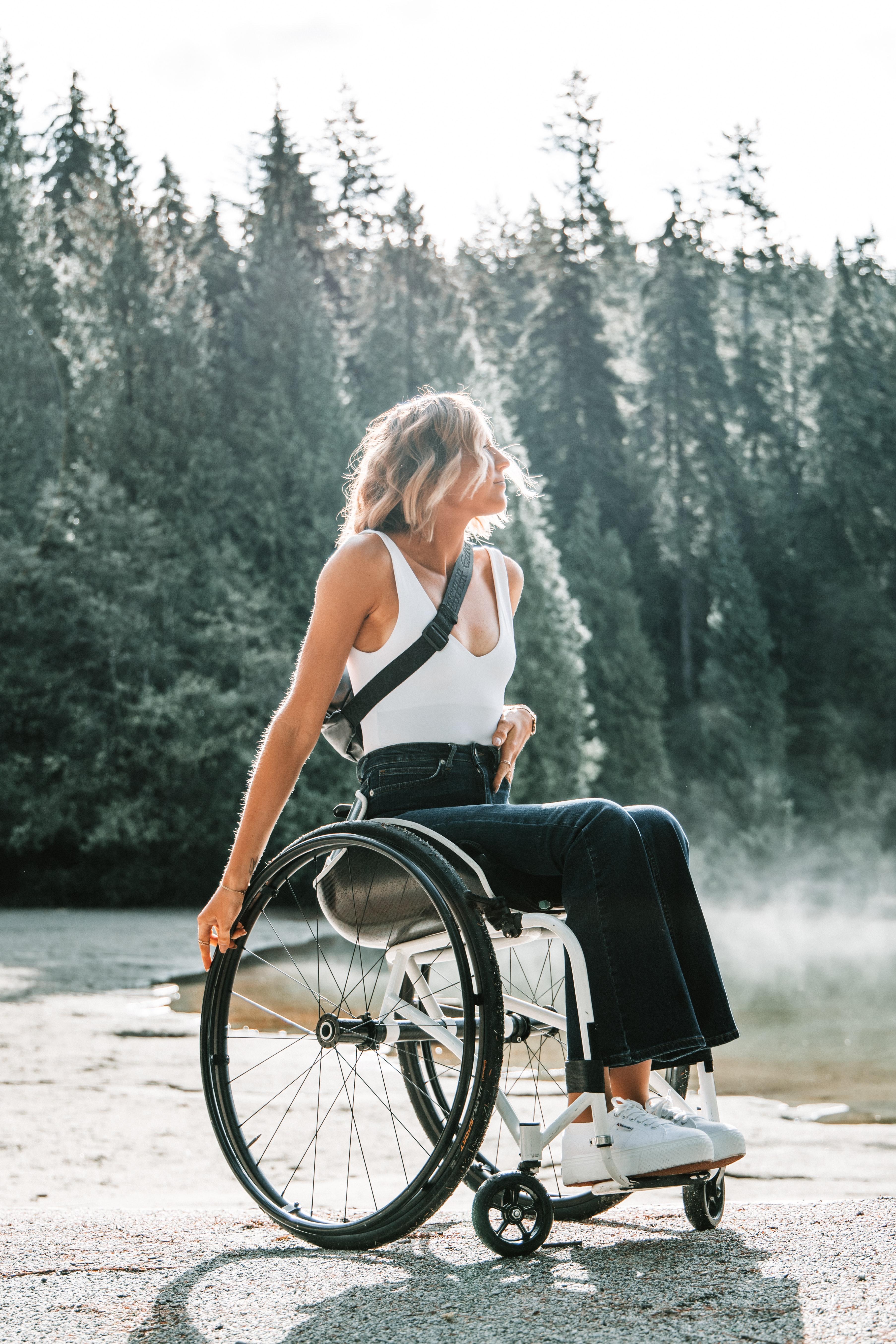 The Texas Loo ADA Regulation Pretty Girl in Wheelchair